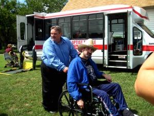 BBT Homecoming 2008 Pastor David with John LR
